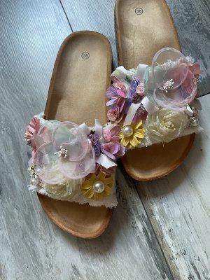 Ibiza Look Sandalen mit Blüten