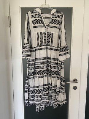Senes Maxi abito bianco-nero