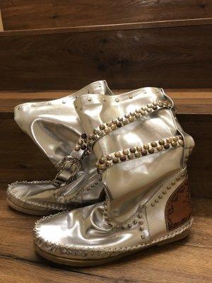 Botas bajas color plata