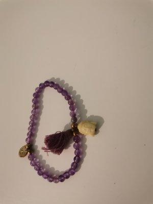 Bracelet à breloques violet foncé