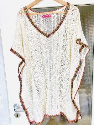 Beachwear cream cotton
