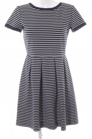 iBlues A-Linien Kleid dunkelblau-weiß Streifenmuster Elegant