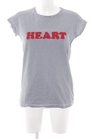 iBlues T-Shirt schwarz-weiß Streifenmuster College-Look