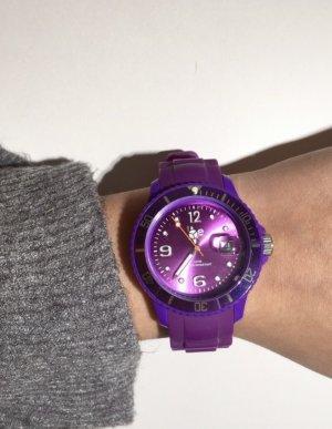 Ice watch Montre avec bracelet en cuir violet