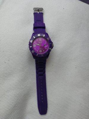 Ice Watch Uhr Armbanduhr Lila silber