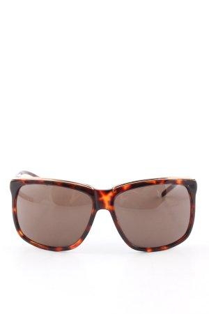 Iceberg Hoekige zonnebril zwart-licht Oranje abstract patroon zakelijke stijl