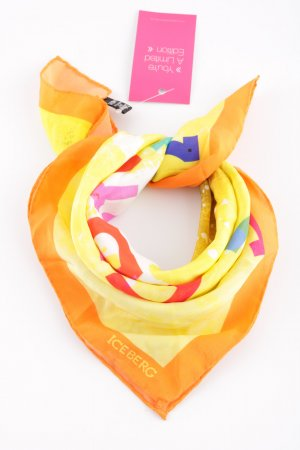 Iceberg Silk Cloth light orange-primrose printed lettering casual look
