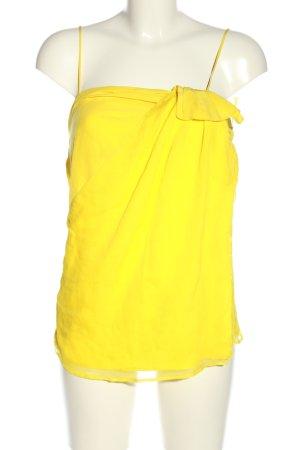 Iceberg Top con bretelline giallo pallido stile casual