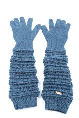 Iceberg Rękawiczki z dzianiny niebieski Nadruk z motywem W stylu casual