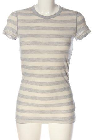 Icebreaker Camisa de rayas blanco puro-marrón moteado look casual