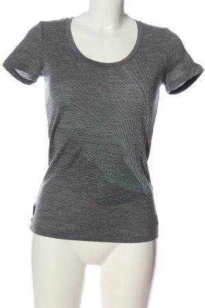 Icebreaker T-Shirt hellgrau meliert Casual-Look