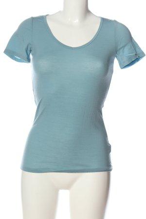 Icebreaker V-Ausschnitt-Shirt blau Casual-Look