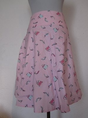 ICENI: Glockenrock mit Print, rosa, Gr. 36/UK8, NEU