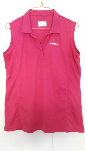 Icepeak ärmelloses Trekkingshirt Wandern pink Polohemd-Stil Gr. 42