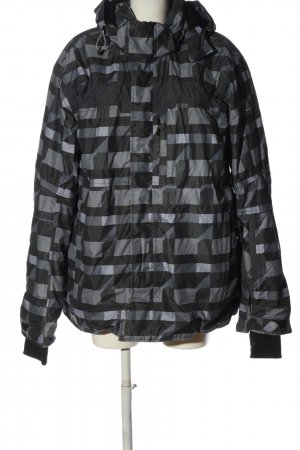 Icepeak Veste à capuche noir-gris clair imprimé allover style décontracté