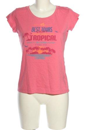 Icepeak Print-Shirt pink Motivdruck Casual-Look