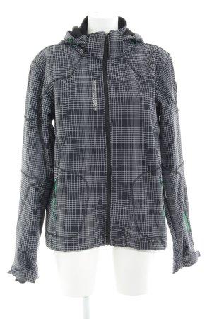 Icepeak Raincoat black-light grey check pattern casual look