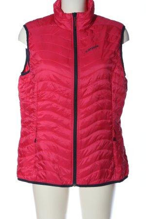 Icepeak Smanicato sport rosso-nero motivo trapuntato stile casual