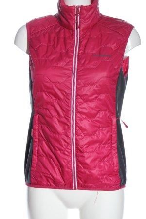 Icepeak Kamizelka sportowa różowy-czarny Pikowany wzór Sportowy styl