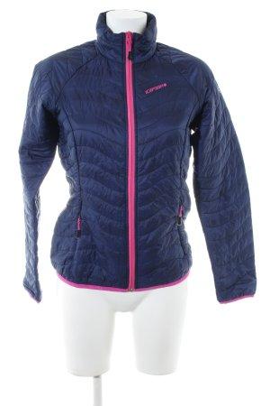 Icepeak Steppjacke blau-pink Motivdruck Casual-Look