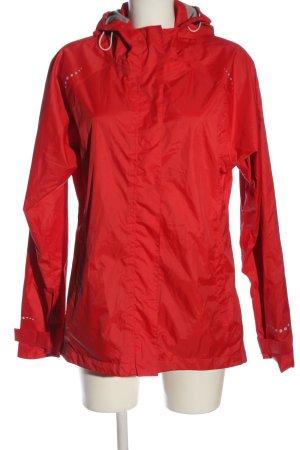 Icepeak Übergangsjacke rot grafisches Muster Casual-Look