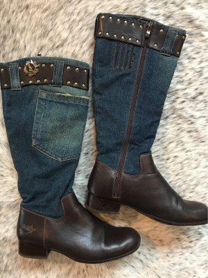 Ich liebe Jeans - Reiterstiefel Gr 39/ Leder mit Jeans