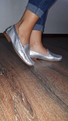 Tanara Moccasins silver-colored-sand brown