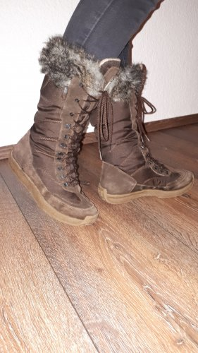 Esprit Botas de piel marrón-marrón oscuro