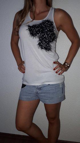 Ann Christine Długi top czarny-biały