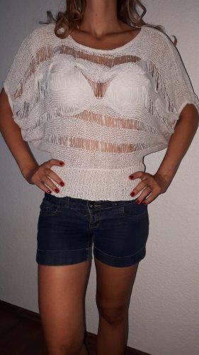 Intuition Szydełkowana koszulka w kolorze białej wełny