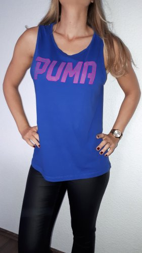 Puma Sporttop staalblauw-neonroos