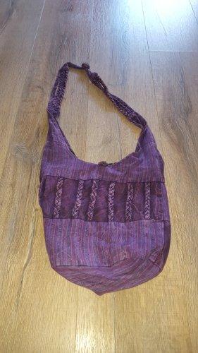 Vintage Borsellino viola scuro-marrone-viola
