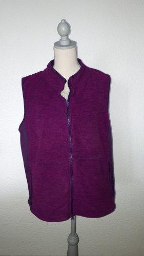 Polarowa kamizelka purpurowy-brązowo-fioletowy