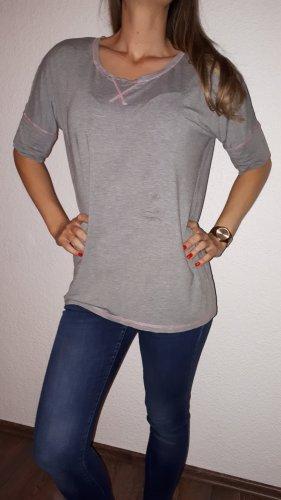 BODY FLIRT T-shirt gris-rose