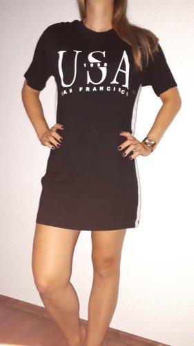 H&M Shirt Dress black-white