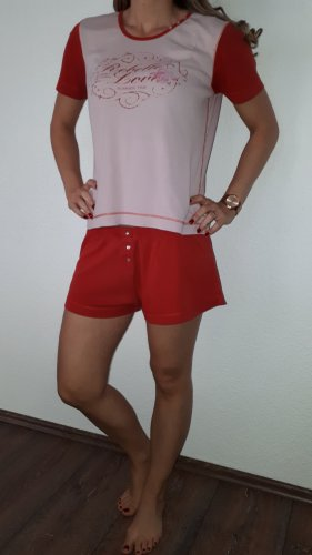 Rebelle Pijama rojo-rosa empolvado