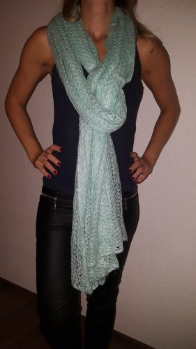 H&M Knitted Scarf turquoise