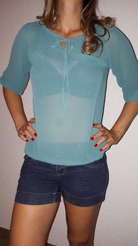 Vero Moda Camisa tipo Carmen azul cadete