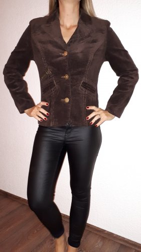 Outfit Blazer in tweed marrone scuro