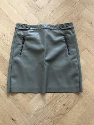 Esqualo Faux Leather Skirt dark grey