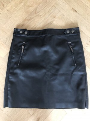 Esqualo Faux Leather Skirt black