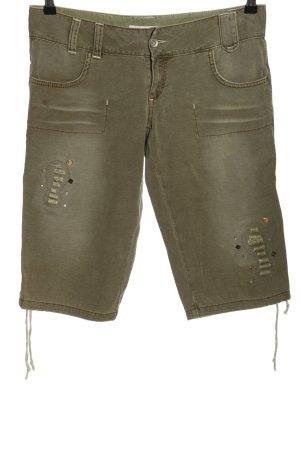 Ichi 3/4-broek khaki casual uitstraling