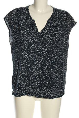 Ichi ärmellose Bluse schwarz-weiß Allover-Druck Casual-Look