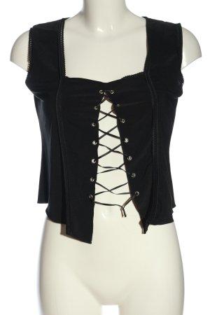Ichi ärmellose Bluse schwarz extravaganter Stil