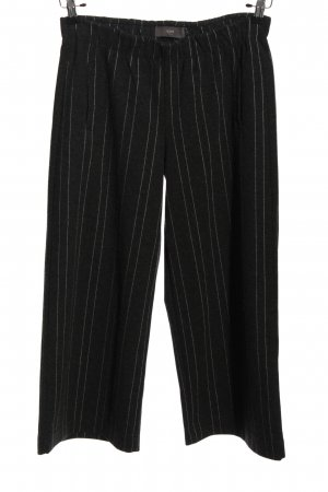 Ichi Baggy Pants schwarz-weiß Streifenmuster Casual-Look