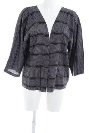 Ichi Blusenjacke grau-schwarz Allover-Druck Casual-Look