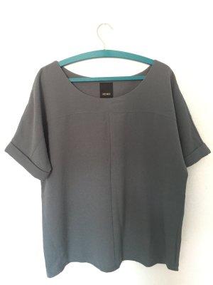 Ichi Kimono Blouse khaki-slate-gray viscose