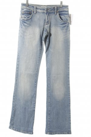 Ichi Boot Cut Jeans kornblumenblau-creme Logo-Applikation