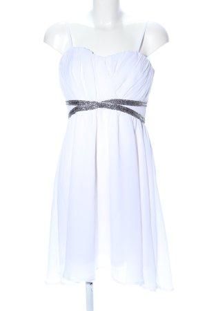 Ichi Bustierkleid weiß-silberfarben Streifenmuster Elegant