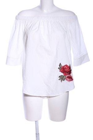 Ichi Carmen-Bluse Blumenmuster Casual-Look